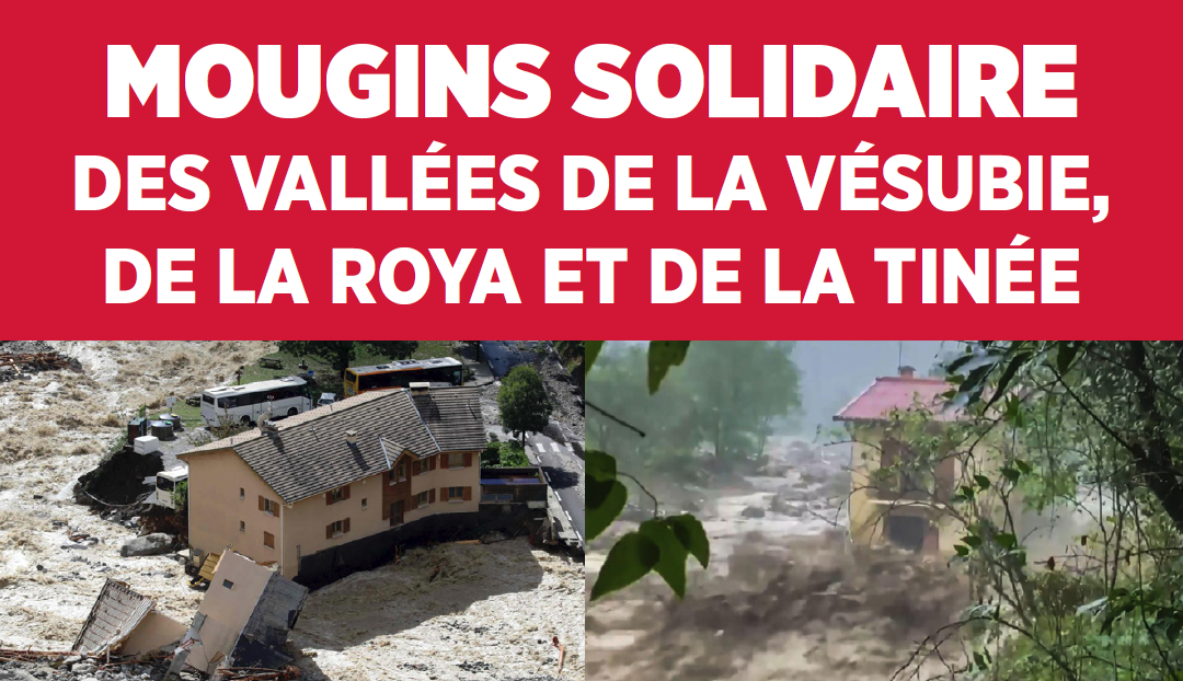 Tempête Alex : Mougins solidaire des vallées de la Vésubie, de la Roya et de la Tinée